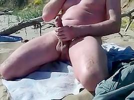 Long slow show on the public beach...