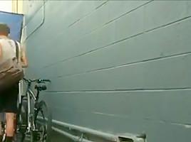 2 horny biker fucking outdoor...