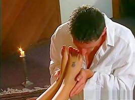 Foot fetish lingerie adult movie...