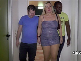 Catches two men and asks them to fuck...