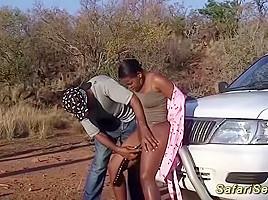 Chubby babe fucked safari...