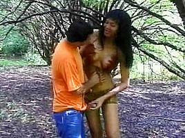 Guy tops woods...