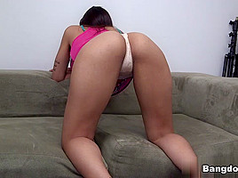 In her first porno she made video...