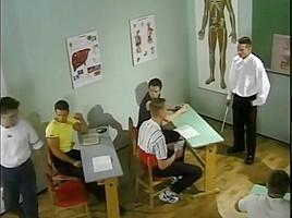 Teacher punishing student...