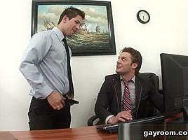 In deep anal office pounding gayroom...