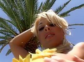 Exotic amazing blonde rimming adult scene...