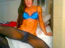 Pantyhose webcam...
