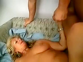 She is receiving and swallowing young cock with...
