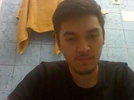 Indonesian stroke himself skype homemade...