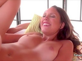 Horny rides cock for hot cowgirl action...
