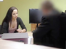 Flawless ambitious girl appears in loan porn...