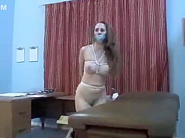 Sexy nurse all tied up gagged...