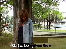 Nudity tan gyaru zero shame striptease subtitled...