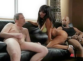 Cuckhold husband watches wife squirt from monster cock...