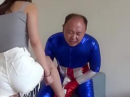 Chinese ballbusting femdom...