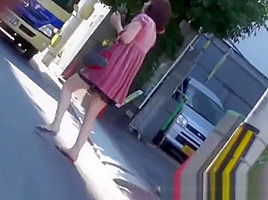 Voyeur outdoor video of urination with babes...