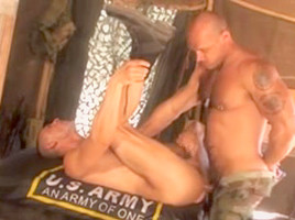 Kinky sergeant fucks his subordinate tent...