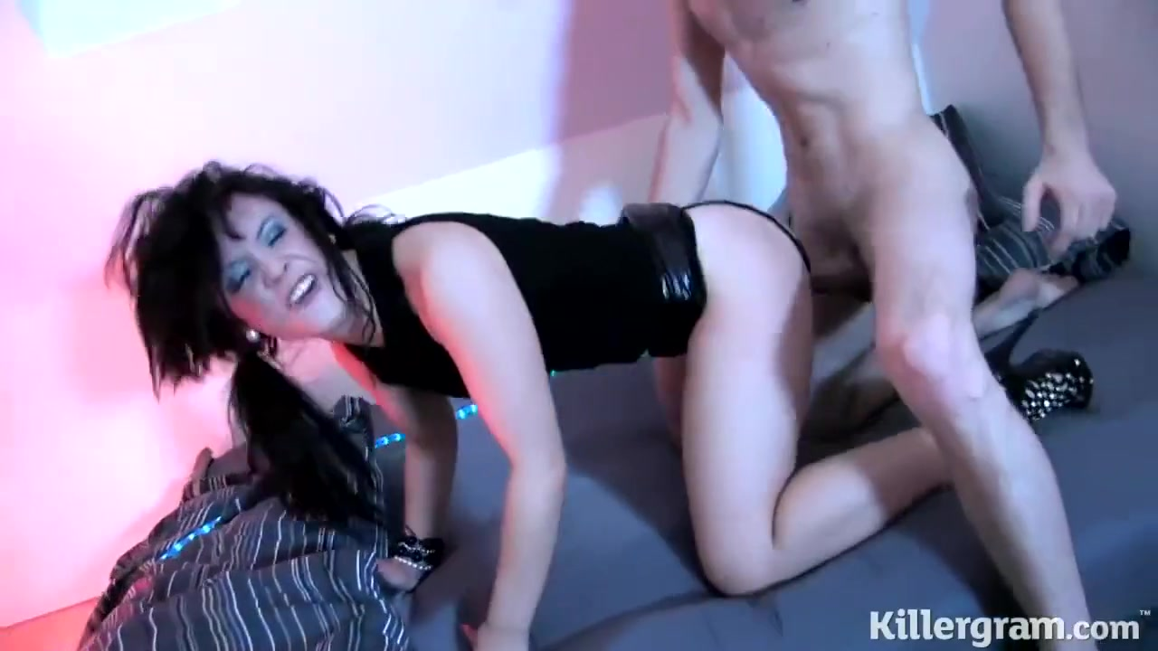 Cock Loving Brunette Is Giving A Blowjob To A Friend And