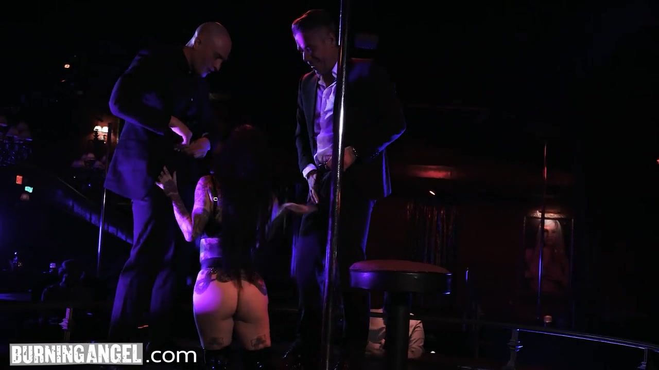 Busty Stripper Joanna Angel Gets Roughly Double-Fucked By...