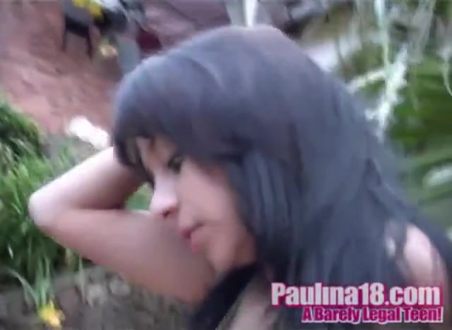 Paulina 18 and Latina Friend lesbian touch
