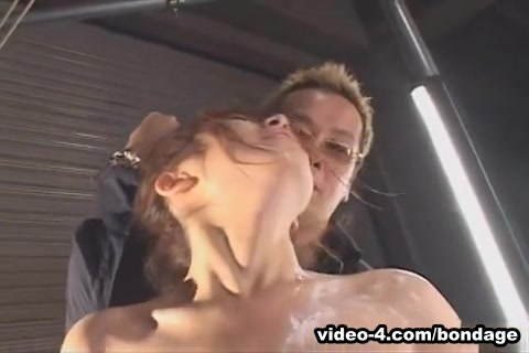 Japanese woman used by three men with toys