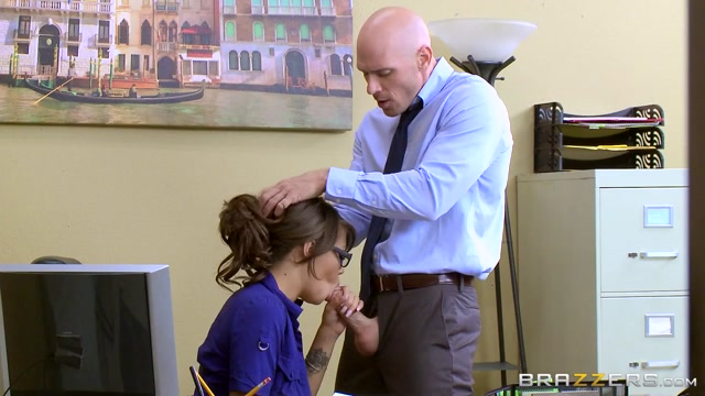 Cassidy Banks & Johnny Sins in Fuck The Interview - Brazzers