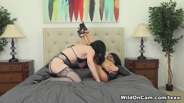Adriana Chechik & Veruca James in Veruca Fucks Adriana With Her Strap On - WildOnCam