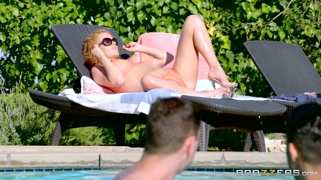 Krissy Lynn & Brad Knight in Milf Crashes Pool Party - Brazzers