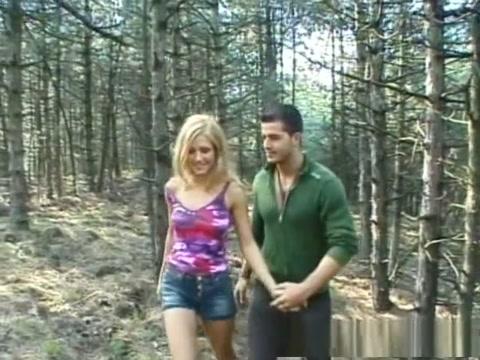 Horny pornstar in crazy blonde, outdoor porn video