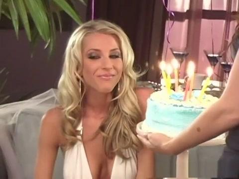 Hottest pornstars Charlie Laine, Sammie Rhodes and Sarah Blake in best blowjob, redhead porn clip
