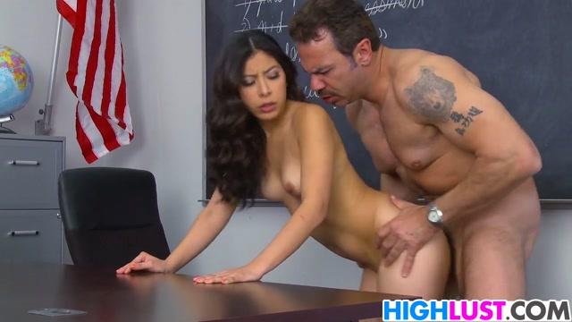 Nicole Ferrera fucks the principal