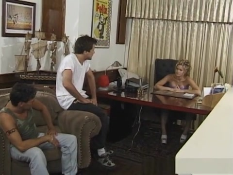 Amazing pornstar Barett Moore in incredible threesomes, facial sex movie