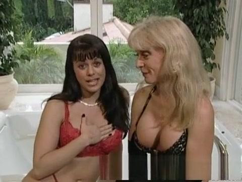 Crazy pornstars Jewel De Nyle and Nina Hartley in best masturbation, lesbian porn clip