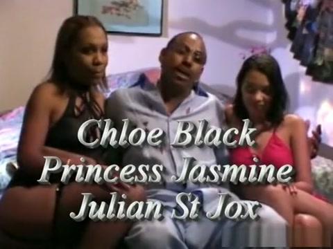 Incredible pornstars Princess Jasmin and Chloe Black in best threesomes, black and ebony porn scene