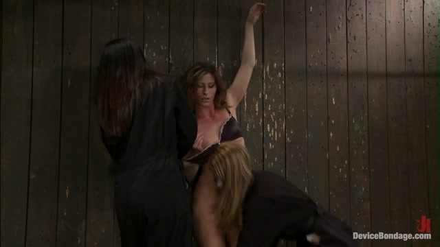 Isis Love & Madison Young & Ariel X in Ariel X takes on the double reverse zipperand FOUR Dommes - DeviceBondage
