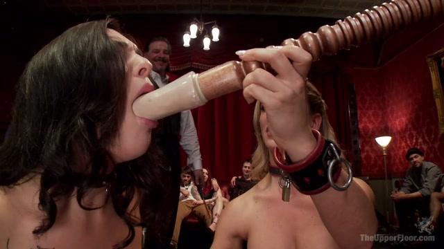 Bill Bailey & Cherie Deville & Rachael Madori in Cherie Deville Teaches The New Slave Cock Service - TheUpperFloor