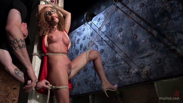 Roxanne Rae & The Pope in Brutal Ecstasy In Extreme Bondage - HogTied