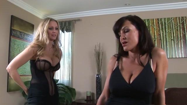 Exotic pornstars Julia Ann and Lisa Ann in best blowjob, masturbation sex movie