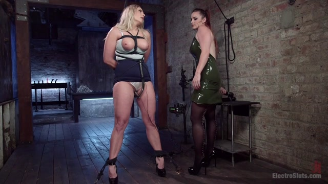 Bella Rossi & Angel Allwood in Slutty Electrogasms: Anal Slut Can't Stop Coming On Electricity - Electrosluts