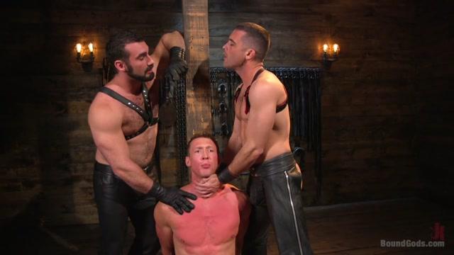 Jaxton Wheeler & Lance Hart & Pierce Paris in Training Day - Dom In Training Gets To Break In A Ripped, New Slave - BoundGods