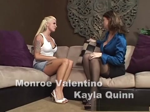 Incredible pornstars Monroe Valentino and Kayla Cam in hottest big tits, fishnet xxx video