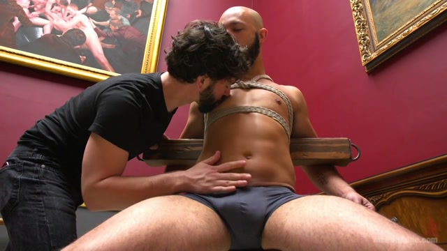 Dylan Strokes in 9 In Cock Edged In Mid-Air & Has The Cum Drained From His Aching Balls - MenOnEdge