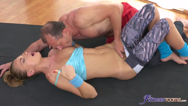 George Uhl & Ivana Sugar in Flexible yoga girl stretched in gym - FitnessRooms