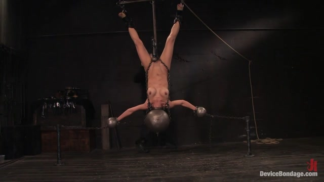 Tia Ling in Tia Ling Inverted, suspended, tortured, as her rock hard bodyis sexually abused - DeviceBondage