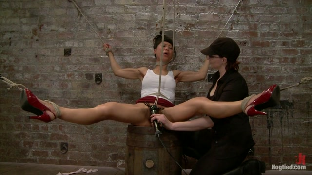 Tia Ling in Bitch Bound In Bag & Extreme Spread Eagle Special - HogTied
