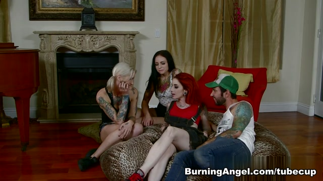Tommy Pistol & Kleio Valentien in BBQ Titmasters Part 4 - All You Can Eat American Orgy Scene