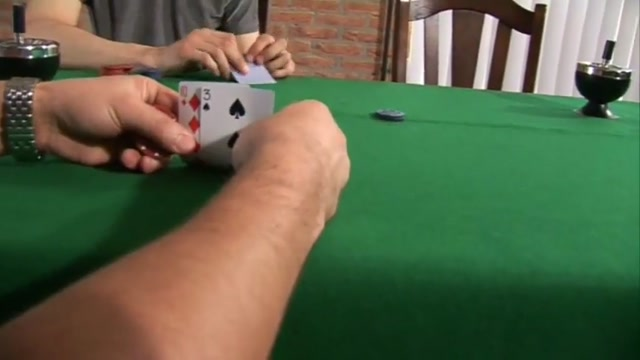 Man puts Woman with Poker