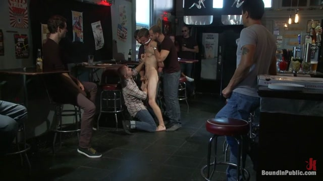 The Brooks - gets piss in the mouth and licks cum off the dirty floor.