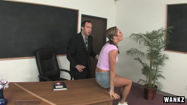 Camryn Kiss & Will Powers in Naughty Schoolgirl Camryn Kiss Takes Her Principal's Cock - SexForGrades