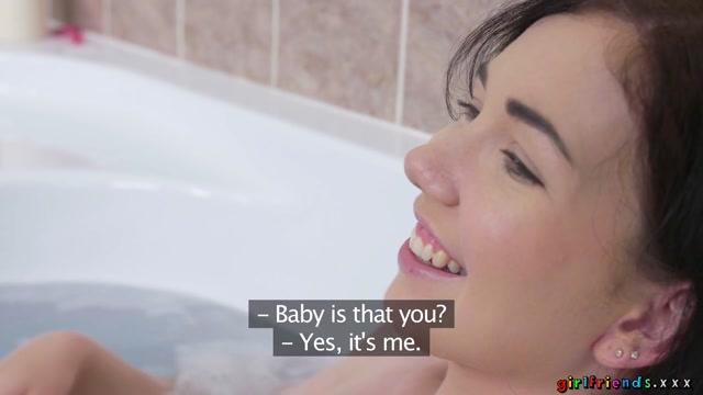 Daphne Angel & Katy Rose in Flirtatious Lesbian Lovers Bathing - Girlfriends